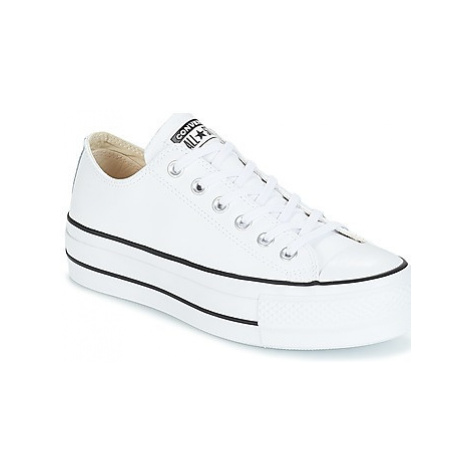Converse CHUCK TAYLOR ALL STAR LIFT CLEAN OX women's Shoes (Trainers) in White
