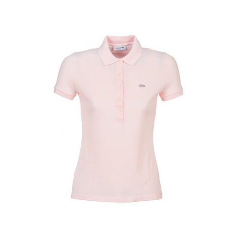 Lacoste PF7845 SLIM women's Polo shirt in Pink