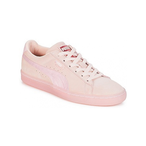 Puma WN SUEDE CL SATIN.PEARL women's Shoes (Trainers) in Pink