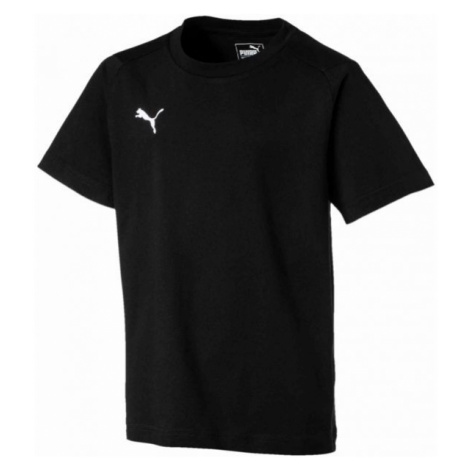 Puma LIGA CASUALS TEE JR black - Boys' T-shirt