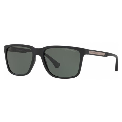 Emporio Armani Man EA4047 - Frame color: Black, Lens color: Green, Size 56-17/140