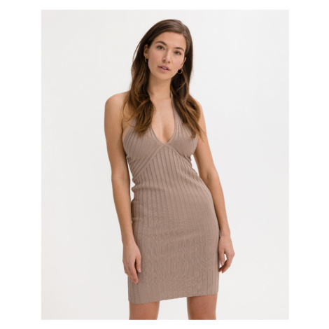 Guess Addy Dress Brown Beige