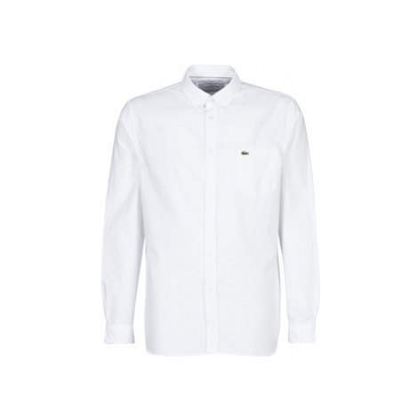 Lacoste CH4976 REGULAR men's Long sleeved Shirt in White