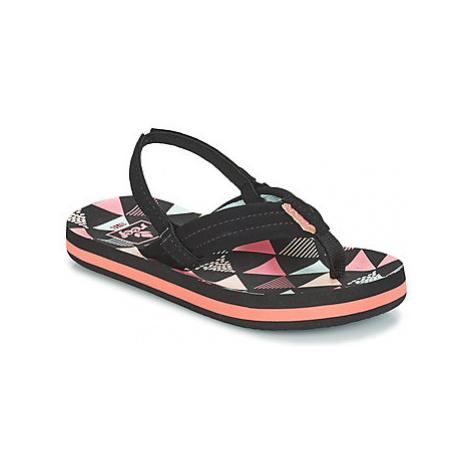 Reef LITTLE AHI girls's Children's Sandals in Black