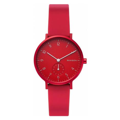 Skagen Watch Aaren Kulor Red Silicone Unisex