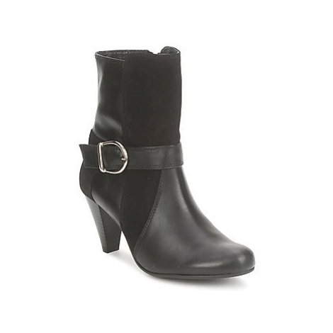 So Size GLECHO women's Low Ankle Boots in Black