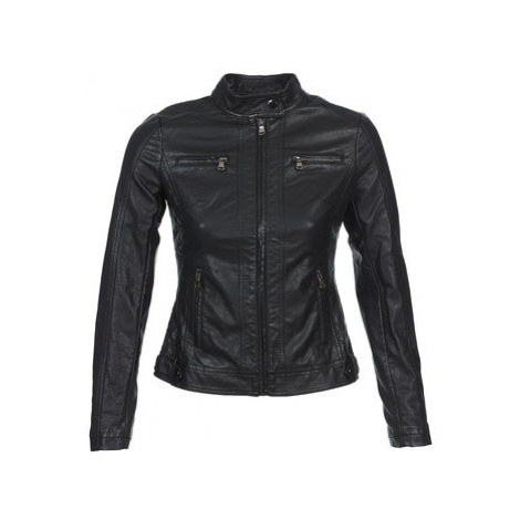 Moony Mood IDESCUNE women's Leather jacket in Black