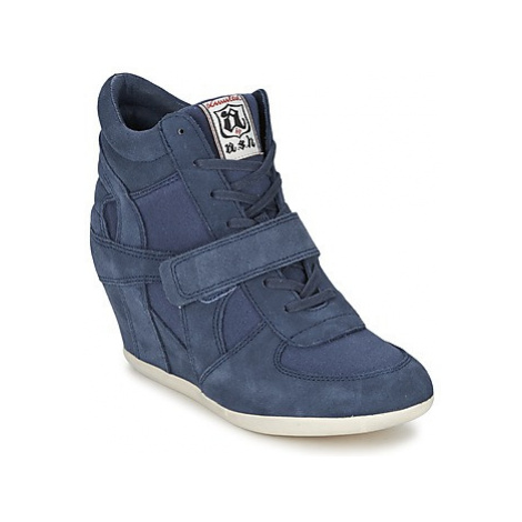 Ash BOWIE women's Shoes (High-top Trainers) in Blue