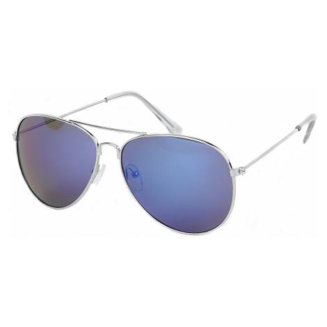 Silver Mirror Aviators Sunglasses silver coloured