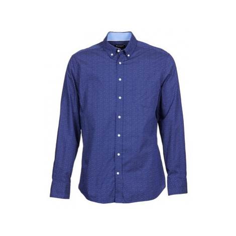 Hackett DARLY men's Long sleeved Shirt in Blue