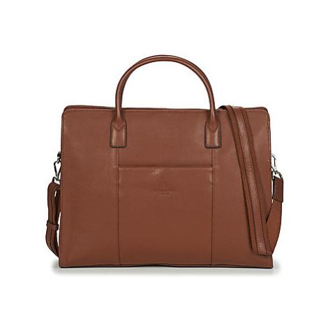 Hexagona - women's Briefcase in Brown