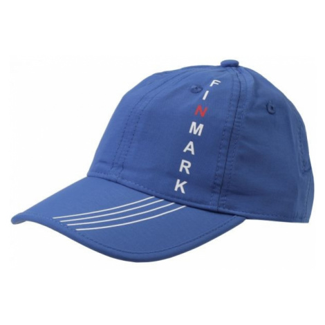 Finmark CHILDREN'S SUMMER BASEBALL CAP blue - Children's summer baseball cap