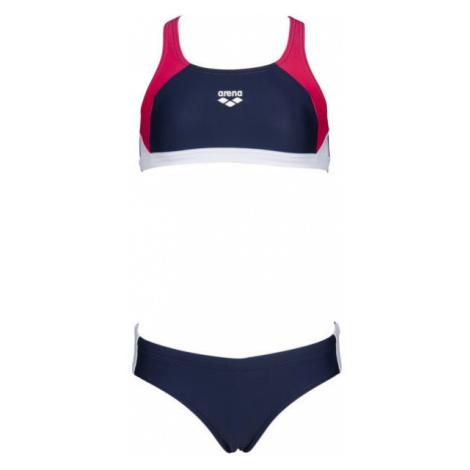 Arena G REN TWO PIECES dark blue - Girls' two-piece swimsuit