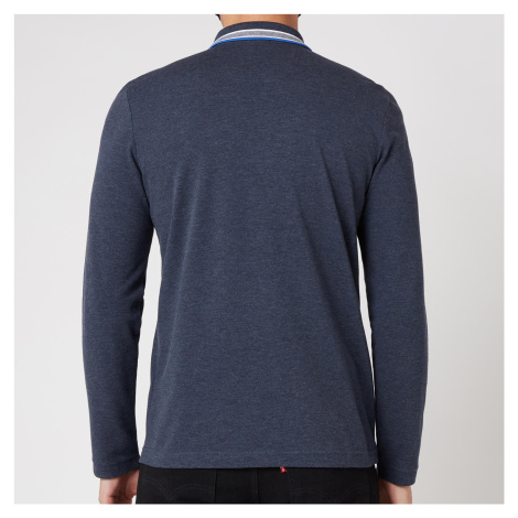 BOSS Athleisure Men's Plisy Longsleeve Polo Shirt - Navy Hugo Boss