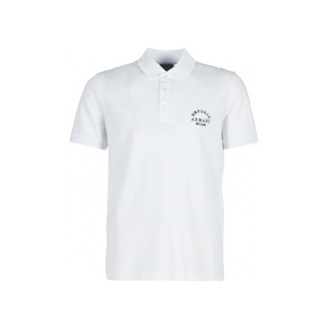 Emporio Armani 6G1FP1-1JJVZ-0100 men's Polo shirt in White