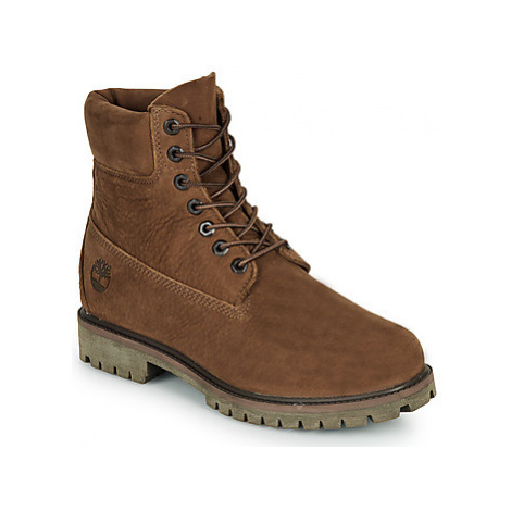 Timberland 6 Prem Rubber Cup Bt men's Mid Boots in Brown