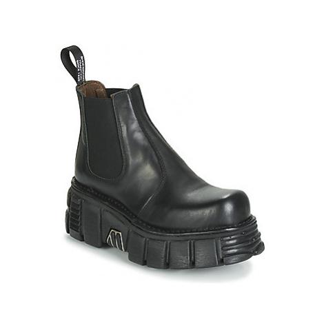 New Rock M-1554-C1 women's Mid Boots in Black