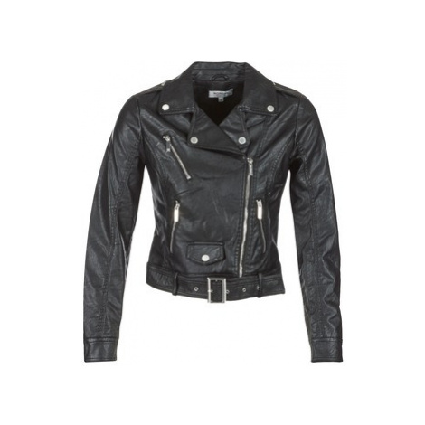 Morgan GARY women's Leather jacket in Black