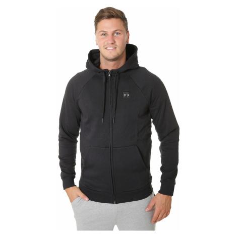 sweatshirt Under Armour Rival Fleece Zip - 001/Black/Black - men´s