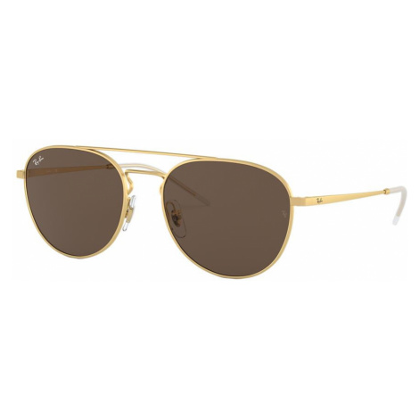 Ray Ban Unisex RB3589 - Frame color: Gold, Lens color: Brown, Size 55-18/140