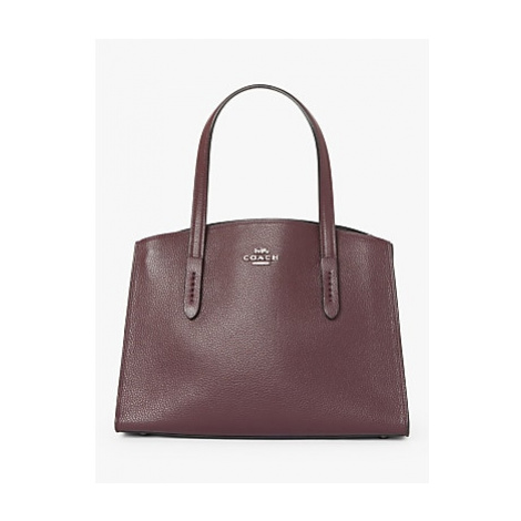 Coach Charlie 28 Leather Carryall Tote Bag, Oxblood