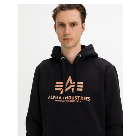 Alpha Industries Basic Hoody Fool Print Sweatshirt Black