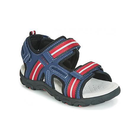 Geox JR SANDAL STRADA boys's Children's Sandals in Blue