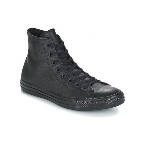 Converse ALL STAR LEATHER HI women's Shoes (High-top Trainers) in Black