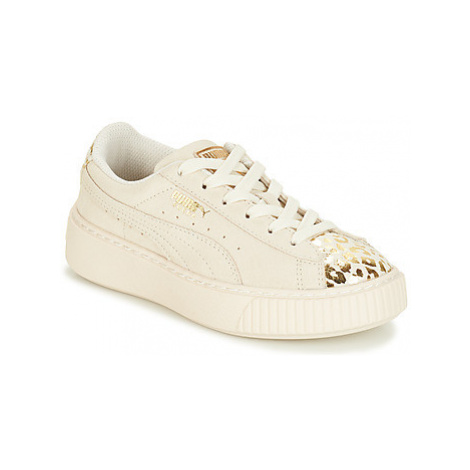 Puma G PS S PLATFORM ATHLUXE.WH girls's Children's Shoes (Trainers) in White