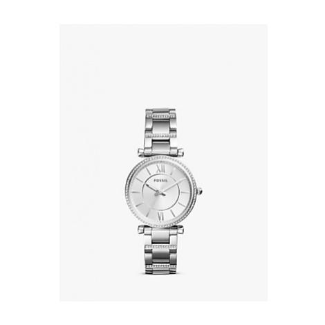 Fossil ES4341 Women's Carlie Bracelet Strap Watch, Silver