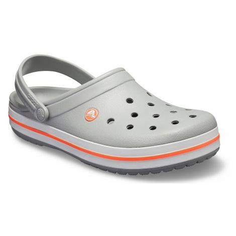 shoes Crocs Crocband Clog - Light Gray/Bright Coral - women´s
