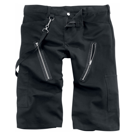 Black Pistol - Zip Short Pants Denim - Shorts - black