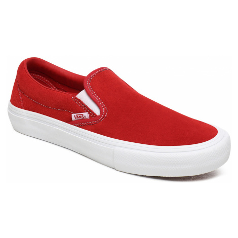 shoes Vans Slip-On Pro - Suede/Red/White - men´s