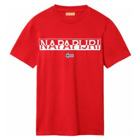 Napapijri SARAS red - Men's T-Shirt