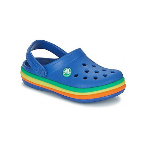 Crocs CB RAINBOW BAND CLOG K girls's Children's Clogs (Shoes) in Blue