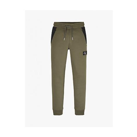 Calvin Klein Boys' Colour Block Sweatpants, Khaki