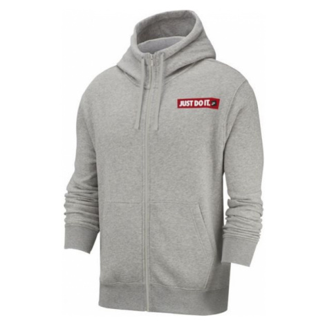Nike NSW HOODIE FZ FLC BSTR M gray - Men's sweatshirt
