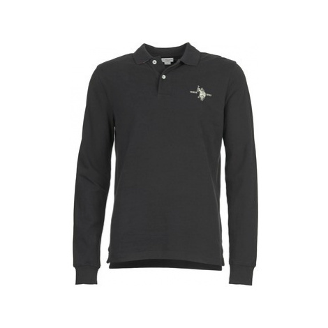 U.S Polo Assn. USA COLLAR men's Polo shirt in Black U.S. Polo Assn
