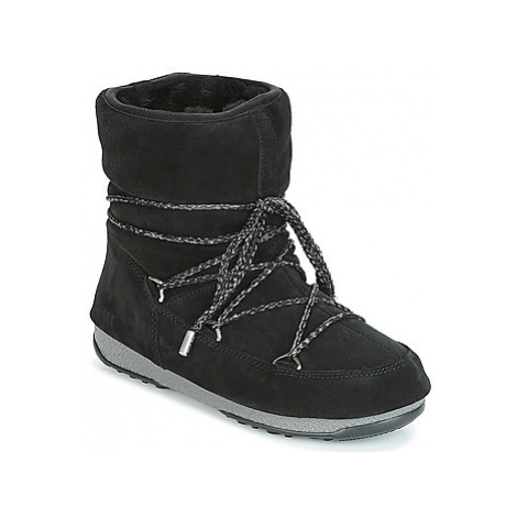 Moon Boot LOW SUEDE WP women's Snow boots in Black