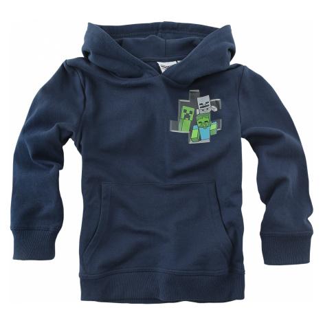Minecraft - Creeper - Kids Hooded Sweater - dark blue
