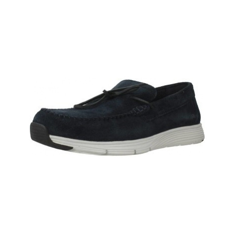 Geox U SNAPISH men's Loafers / Casual Shoes in Blue