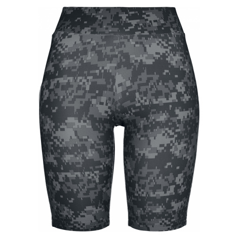 Urban Classics - Ladies Highwaist Camo Tech Cycle Shorts - Girls shorts - dark camo