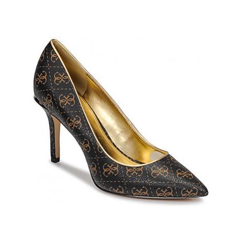 Guess BARETA women's Court Shoes in Brown