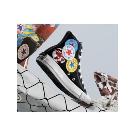Converse All Star Hi BLACK UNIVERSITY RED AMARILLO MULTI LOGO