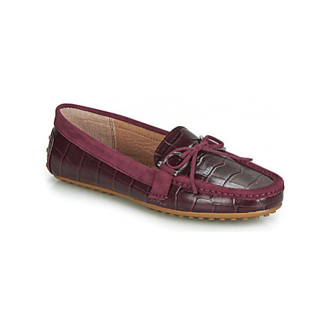 Lauren Ralph Lauren BRILEY women's Loafers / Casual Shoes in Red