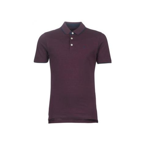 Jack Jones JJEPAULOS men's Polo shirt in Bordeaux Jack & Jones