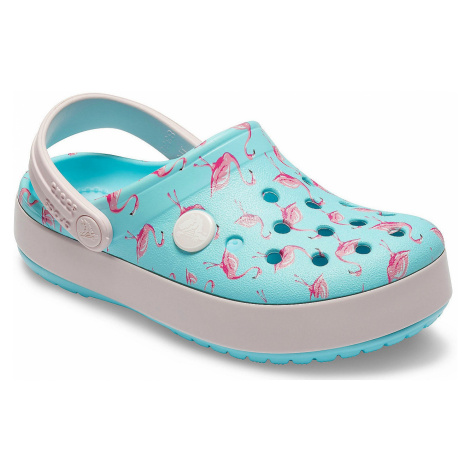 shoes Crocs Crocband Multi Graphic Clog - Ice Blue - unisex junior