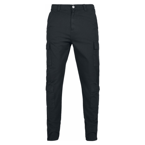 Urban Classics - Tapered Double Cargo Pants - Cargo Pants - black