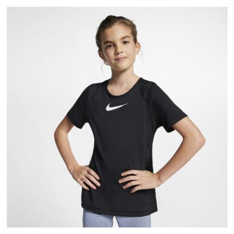 Nike Pro Older Kids' (Girls') Short-Sleeve Top - Black