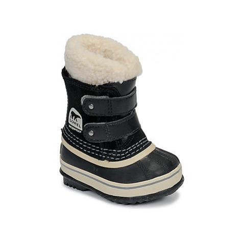 Sorel TODDLER 1964 PAC™ STRAP girls's Children's Snow boots in Black